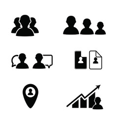 Bussines icon people in black color vector