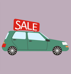 Car for rent buying or rent car vector