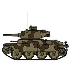 Classic light tank vector
