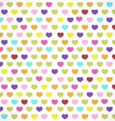 Colorful hearts background in retro style vector