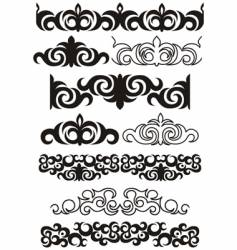 decorative boarders vector image vector image
