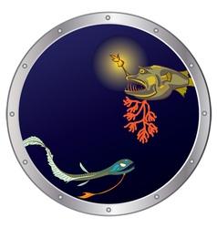 deep-sea fishes vector image