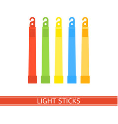 Emergency light stick vector