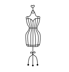 Fashionable dummy vector image