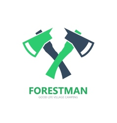 Forest axe logo or symbol icon vector