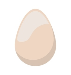 full color with white egg vector image
