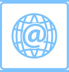Global e-mail icon vector