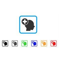 head treatment framed icon vector image