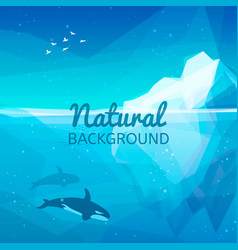 Iceberg nature background vector