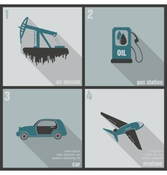 icons production and use of oil vector image vector image