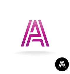 Letter A construction linear logo vector image