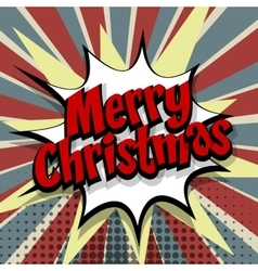 Merry Christmas colored background vector image