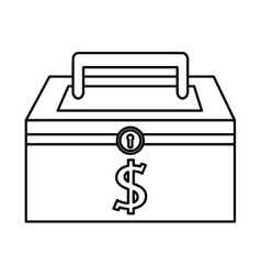 money security box icon vector image
