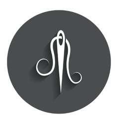 Needle with thread icon Tailor sign vector image