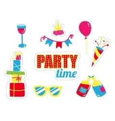 Party fashion stickers set patch badges vector image