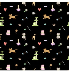 Seamless pattern cat vector image vector image