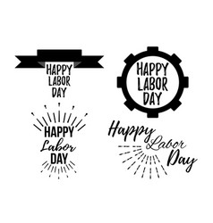 Set of happy labor day banner and giftcard vector