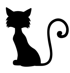 sill furry cat vector image vector image