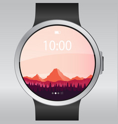 Smart electronic intelligence watch vector