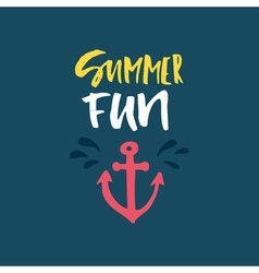 Summer fun lettering vector