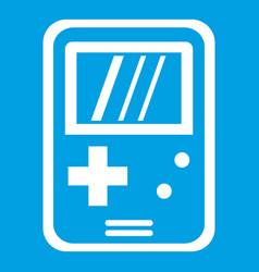 Tetris icon white vector