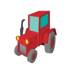 Tractor cartoon icon vector image