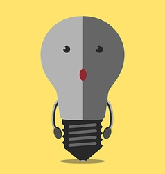Turned off lightbulb character vector image vector image