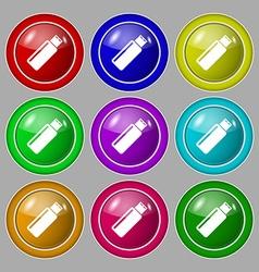 Usb sign icon flash drive stick symbol symbol on vector