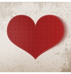 Valentines day realistic big red heart vector