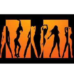 Dancing girls backround vector image