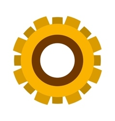Yellow silhouette gear wheel icon vector