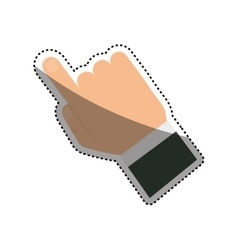 Finger touching something vector