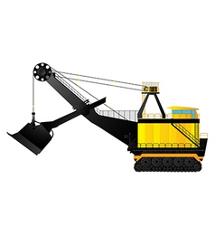Mining excavator vector image