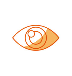 Human eye optical vision design vector