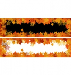 Autumn frame maple leaf vector