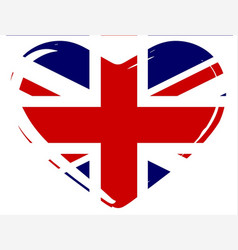 union flag heart vector image
