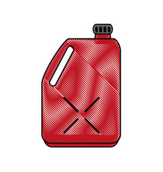 Oil bottle car icon image vector