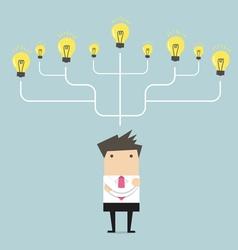 Businessman many idea to success concept vector image