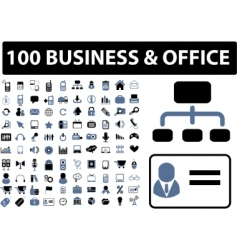 100 business  office signs vector image