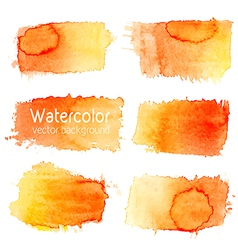 Set of watercolor background with paper texture vector