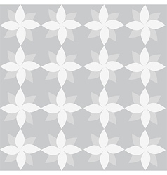 White geometrical flowers on grey backdrop vector