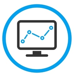 Chart monitoring icon vector