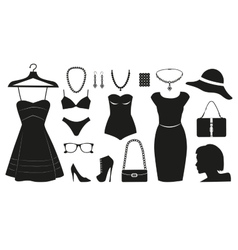 Fashion icons collectuin for woman vector