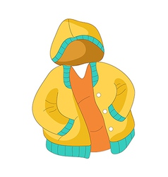 A view of jacket vector