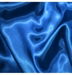 Blue fabric satin texture for background vector image vector image