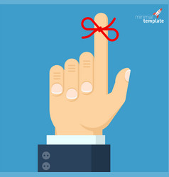 businessmans hand with red bow vector image vector image