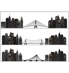 City set black vector