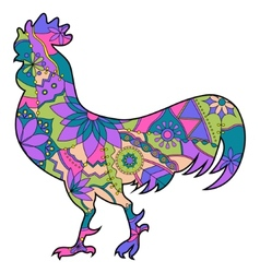 Colorful cock vector