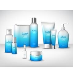 Cosmetics decorative set vector
