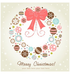 Creative design christmas wreath vector